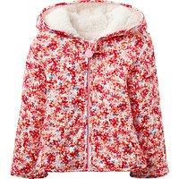 Baby Joule Cuddle Ditsy Reversible Coat, Cream/Pink
