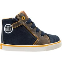 Geox Childrens Kilwi Mid Top Shoes, Navy/Yellow