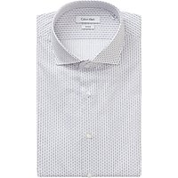 Calvin Klein Rome Fitted Easy Iron Shirt, White/Purple