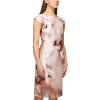 Jacques Vert Printed Shantung Dress, Multi Cream