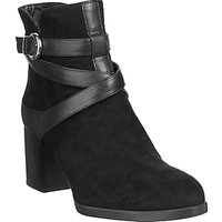 Unisa Micael Block Heeled Ankle Boots, Black