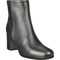 Unisa Omer Block Heeled Ankle Boots, Black Metallic
