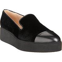 Unisa Cabed Flatform Heeled Loafers, Black