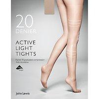 John Lewis 20 Denier Firm Support Active Light Sheer Tights