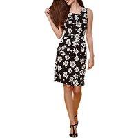 Yumi Flower Print Dress, Black