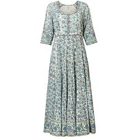 East Kavita Floral Print Scoop Neck Maxi Dress, Viola/Multi