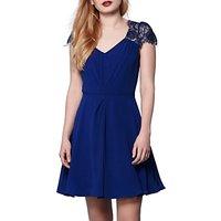 Yumi V-Neck Lace Trim Dress