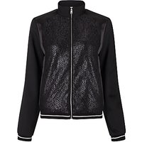 Calvin Klein Olsa Material Mix Bomber Jacket, Black