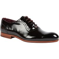 Ted Baker Haigh Patent Leather Oxford Shoes, Dark Blue