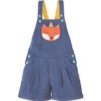 Frugi Organic Girls Cerys Corduroy Fox Dungarees, Blue