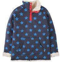 Frugi Organic Childrens Reversible Star Print Fleece, Navy/White