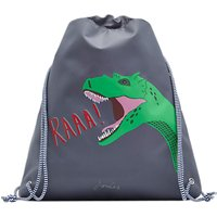 Joules Little Joule Children's Glow In The Dark Dinosaur Draw String Bag, Grey