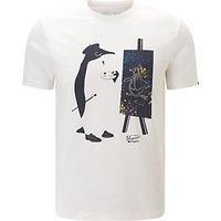 Original Penguin Painter Illustration Printed T-Shirt, White