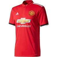 Adidas Manchester United F.C. Home Replica Football Shirt, Red