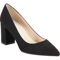 John Lewis Ava Block Heeled Court Shoes, Black