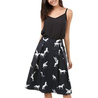 Sugarhill Boutique Make Believe Skirt, Black/White