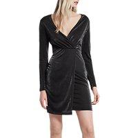 French Connection Arlene Jersey Dress, Black Shimmer