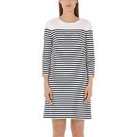 Marc Cain Stripe Jersey Dress, Navy/White