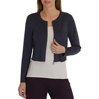 Betty Barclay Faux Suede Jacket, Maritime Blue