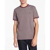 Original Penguin Tri-Colour T-Shirt, Pomegranate