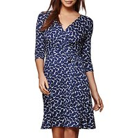 Yumi Deco Flower Jersey Dress, Dark Blue