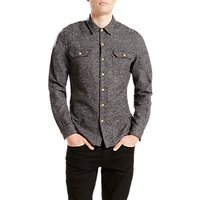 Levis Jackson Worker Shirt, Dark Heather Grey
