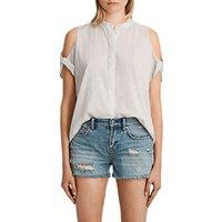 AllSaints Elsa Cotton Shirt, Chalk White