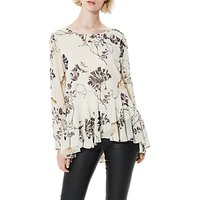 Selected Femme Lima Printed Blouse, Rainy Day