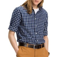 Tommy Hilfiger Hampton Check Oxford Shirt, Dark Blue/Snow White