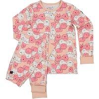 Polarn O. Pyret Children's Animal Print Pyjamas, Pink