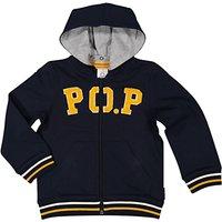 Polarn O. Pyret Childrens PO.P Hoodie, Blue