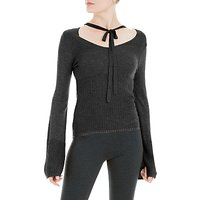 Max Studio Long Sleeve Choker Jumper, Black