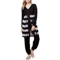 East Printed Combination Cardigan, Black