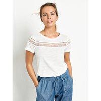 hush Lace Insert T-Shirt, White
