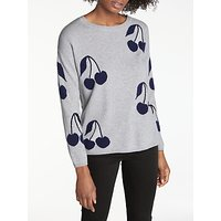 Cocoa Cashmere Crew Neck Cherries Jumper