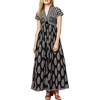 East Anokhi Bamza Print Maxi Dress, Black