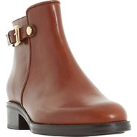Dune Polley Block Heeled Ankle Boots, Brown