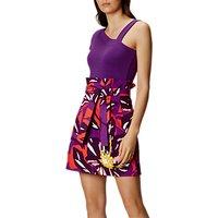 Karen Millen Colourful Flower Cotton Skirt, Multi