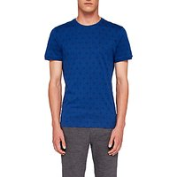 Ted Baker Mitchal Geo Print T-Shirt, Mid Blue