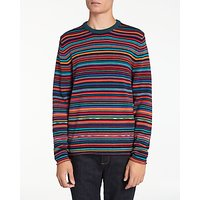 PS by Paul Smith Multi Stripe Crew Neck Jumper, Multi