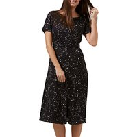 Sugarhill Boutique Cassie Starry Sky Dress, Black/White