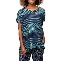 East Astrid Print Oversized Blouse, Ink