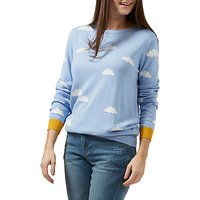 Sugarhill Boutique Rita Cloud Intarsia Jumper, Sky Blue/Multi