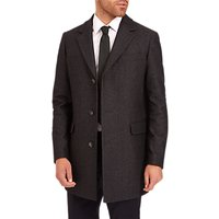 Jaeger Single Breasted Overcoat, Charcoal