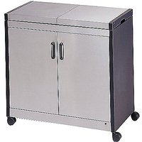 Hostess Trolley HL6232BS, Brushed Steel