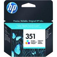 HP 351 Inkjet Cartridge, Tri-colour, CB337EE