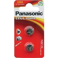Panasonic 1.5V Alkaline Coin Cell Battery, LR-44/2BP