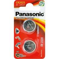 Panasonic 3V Lithium Coin Cell Battery, CR2025