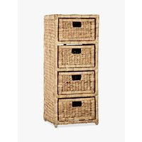 John Lewis Water Hyacinth Storage Unit, 4 Drawer