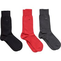 Calvin Klein Cotton Dress Socks, Pack of 3, One Size, Multi